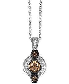 Chocolatier® Chocolate Deco Estate™  Diamond (1/8 ct. t.w.) Pendant in 14k White Gold