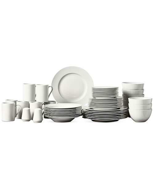 Tabletops Unlimited CLOSEOUT! Soleil 50-Pc. Ash White Set, Service for 8