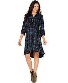 A Pea in the Pod Maternity Plaid Shirtdress
