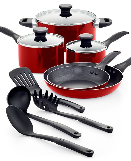 Tools of the Trade Nonstick Aluminum 12-Pc. Cookware Set, Created for Macy's