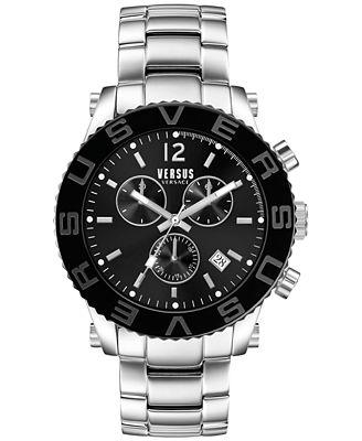 versus by versace men s chronograph madison stainless steel versus by versace men s chronograph madison stainless steel bracelet watch 42mm soh020015