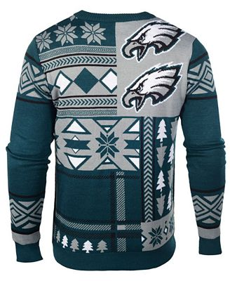 Forever Collectibles Mens Philadelphia Eagles Patches Christmas