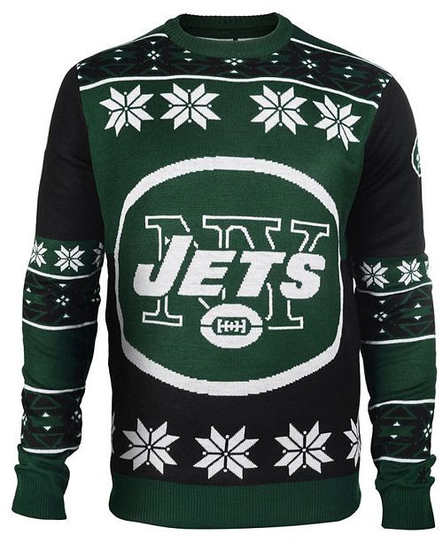 new arrival 13f84 df830 Forever Collectibles Men's New York Jets Big Logo Christmas ...