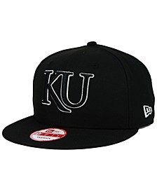 Kansas Jayhawks Black White 9FIFTY Snapback Cap