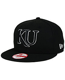 New Era Kansas Jayhawks Black White 9FIFTY Snapback Cap