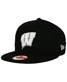 New Era Wisconsin Badgers Black White 9FIFTY Snapback Cap