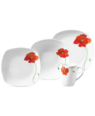 Tabletops Unlimited Poppy 16-Pc. Set Service for 4  sc 1 st  Macy\u0027s & Tabletops Unlimited Dishes: Shop Dinnerware Online - Macy\u0027s