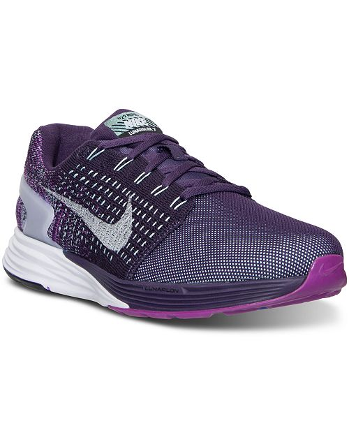 0c7ab1127de2 Nike Women s LunarGlide 7 Flash Running Sneakers from Finish Line ...