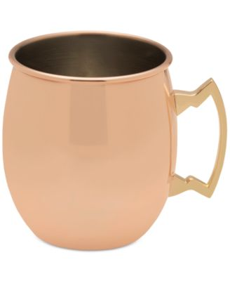 Modernist Copper Plated Moscow Mule Plain Mug