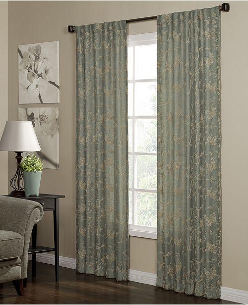 "Miller Curtains Camilla 40"" x 95"" Woven Curtain Panel"