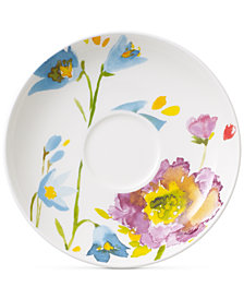 Villeroy & Boch Amnut Flowers Collection Bone China After Dinner Cup Saucer