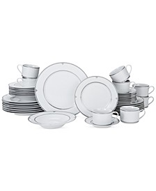 Porcelain 40-Pc. Regent Bead Dinnerware Set, Service for 8