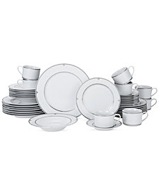 Mikasa Porcelain 40-Pc. Regent Bead Dinnerware Set, Service for 8