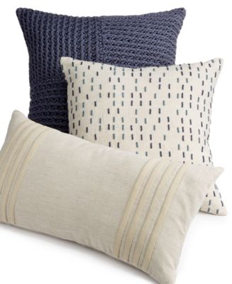 Hotel Collection Mulberry Decorative Pillows : Hotel Collection Linen Stripe 18