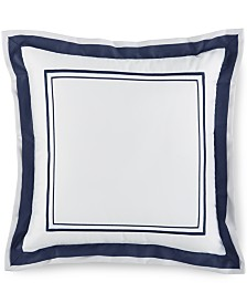 "Hotel Collection Embroidered Frame 16"" Square Decorative Pillow, Created for Macy's"