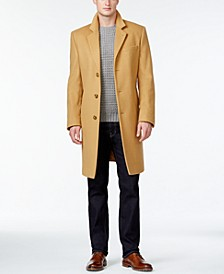 Michael Kors Men's Big & Tall Madison Wool-Blend Overcoat
