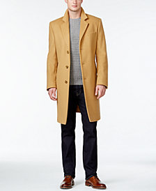 Michael Kors Men's Big & Tall Madison Wool-Blend Overcoat