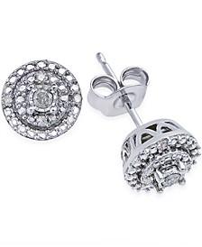 Diamond Stud Earrings (1/10 ct. t.w.) in Sterling Silver