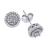 Macy's Diamond Stud Earrings (1/10 ct. t.w.) Sterling Silver Deals