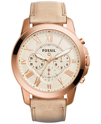 Fossil Men's Chronograph Q Grant Sand Leather