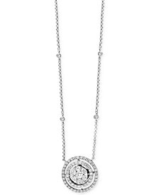 Bouquet by EFFY Diamond Halo Pendant Necklace (3/4 ct. t.w.) in 14k White Gold