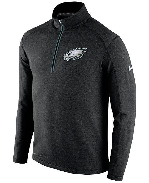 Nike Men s Philadelphia Eagles Half-Zip Dri-FIT Jacket - Sports Fan ... e4f0c7173