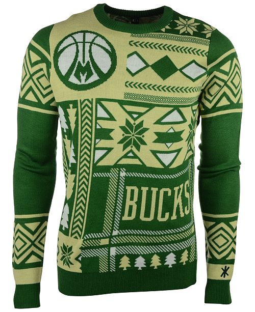huge selection of a420f 3ef41 Forever Collectibles Men's Milwaukee Bucks Patches Christmas ...