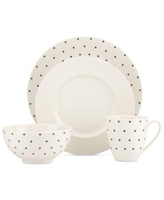 Larabee Dot Cream Collection Stoneware Accent Plate