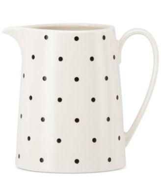 Larabee Dot Cream Collection Stoneware Creamer