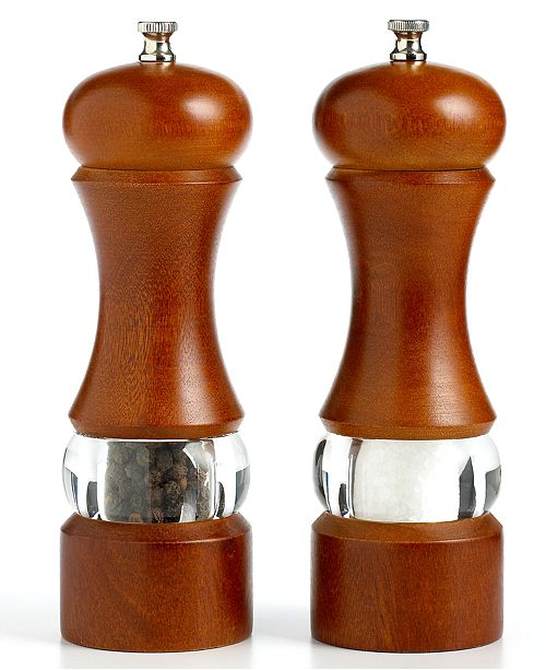 "Martha Stewart Collection 7.5"" Walnut Acrylic Salt and Pepper Mill, Created for Macy's"