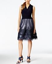 962ca97d5783 SL Fashions Illusion Soutache-Trim Party Dress