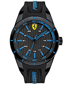 Scuderia Ferrari Men's RedRev Black Silicone Strap Watch 44mm 830247