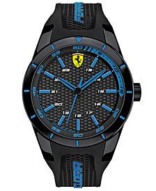 Scuderia Ferrari Men's RedRev Black Silicone Strap Watch 44mm 830247