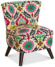 Grandview Desert Flower Accent Chair, Quick Ship