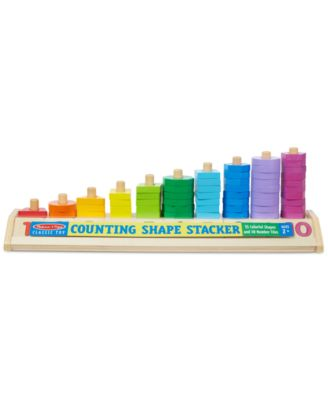 Melissa and Doug Kids' Counting Shape Stacker