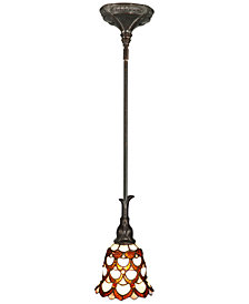Dale Tiffany Peacock Mini Metal Pendant Light