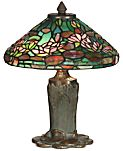 Dale Tiffany Floral Leaf Metal Table Lamp
