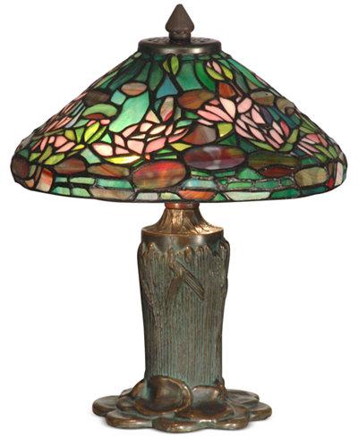 Dale Tiffany Floral Leaf Metal Table Lamp