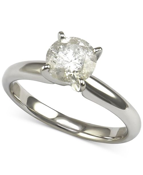 Macy's Diamond Solitaire Engagement Ring (1-1/4 ct. t.w.) in 14k White Gold