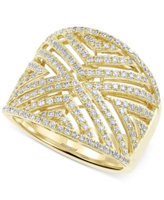 D'Oro by EFFY Diamond Geometric Ring (3/4 ct. t.w.) in 14k Gold