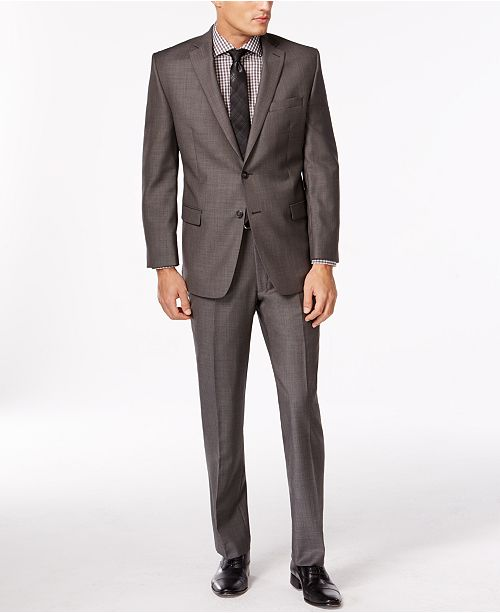 Calvin Klein Charcoal Pindot Modern Fit Suit Separates