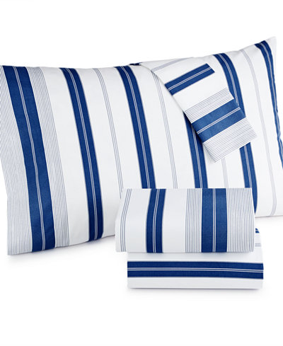 CLOSEOUT! Tommy Hilfiger Lambert's Cove King Sheet Set