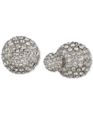 Crystal Fireball Front and Back Earrings