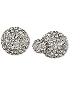 Anne Klein Crystal Fireball Front and Back Earrings