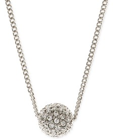 "Givenchy 16"" Necklace, Rose Gold-Tone Crystal Fireball Pendant Necklace"
