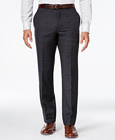 Tommy Hilfiger Charcoal Windowpane Modern-Fit Pant