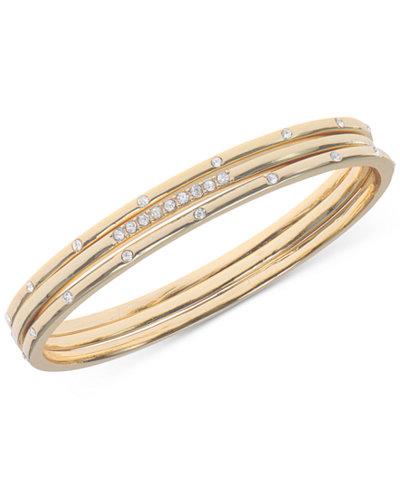 Anne Klein Crystal Studded Bracelet, Created for Macy's