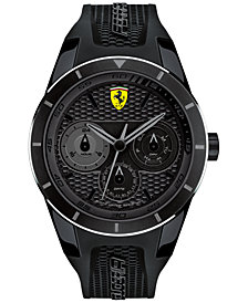 Scuderia Ferrari Men's RedRev T Black Silicone Strap Watch 44mm 830259