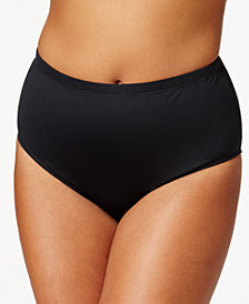 Lauren Ralph Lauren Plus Size Tummy-Control High-Waist Bikini Bottoms