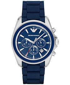 Emporio Armani Men's Chronograph Sigma Blue Rubber Strap Watch 44mm AR6068